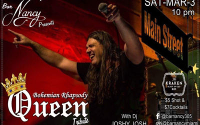 SATURDAY MAR 3rd – BOHEMIAN RHAPSODY QUEEN TRIBUTE @ NANCY