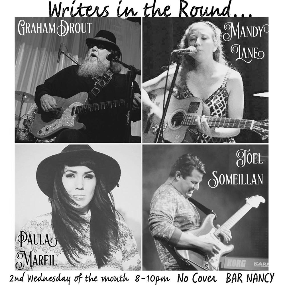 WRITERS IN THE ROUND - SEPTEMBER 12 - GRAHAM DROUT - MANDY LANE - PAULA MARFIL - JOEL SOMEILLAN