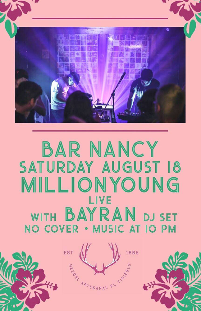 MILLIONYOUNG - AUGUST 18 - 10PM - BAYRAN DJ SET - NO COVER