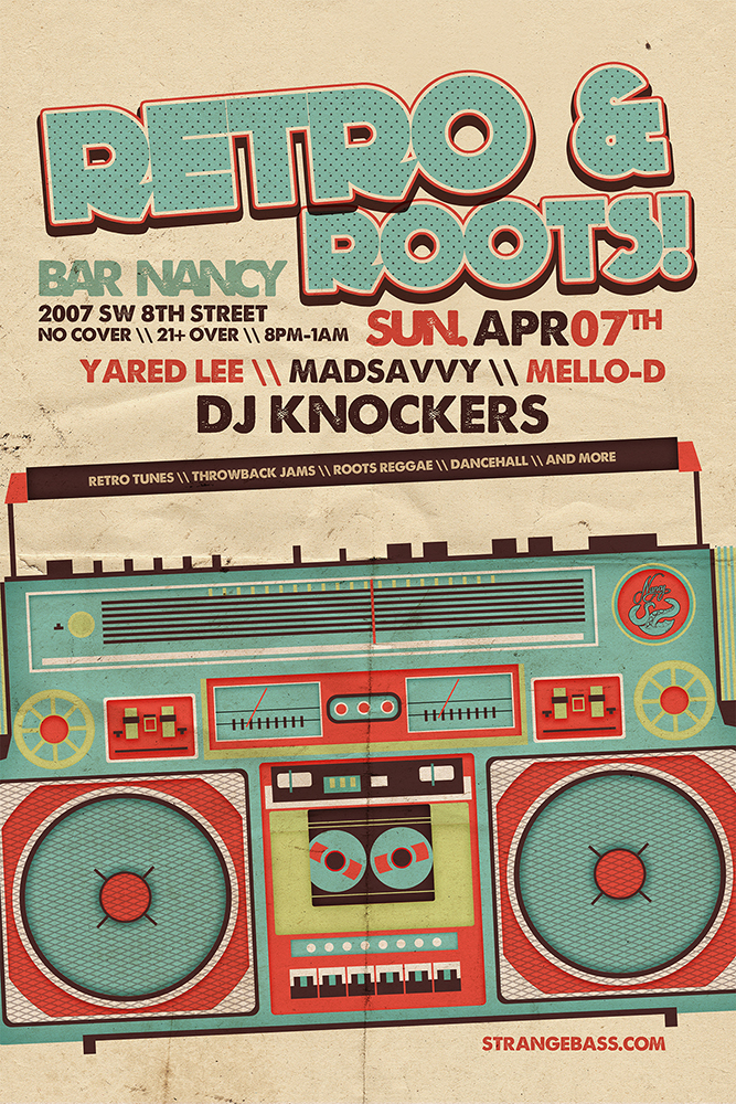 Retro & Roots - DJ sets by DJ Knockers \\ Mello-D \\ Madsavvy \\ Yared Lee @ Bar Nancy - Sunday April 7 - No cover - 8 PM – 1 AM