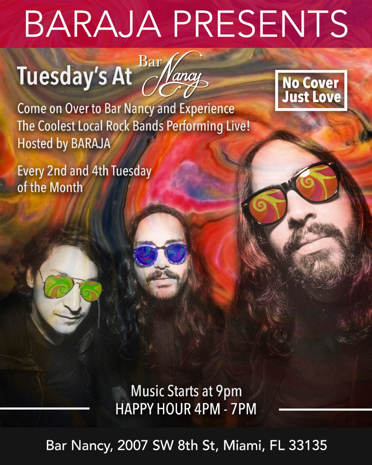 Baraja Presents Tuesday's at Bar Nancy! - Tuesday, April 9, 2019 at 9 PM