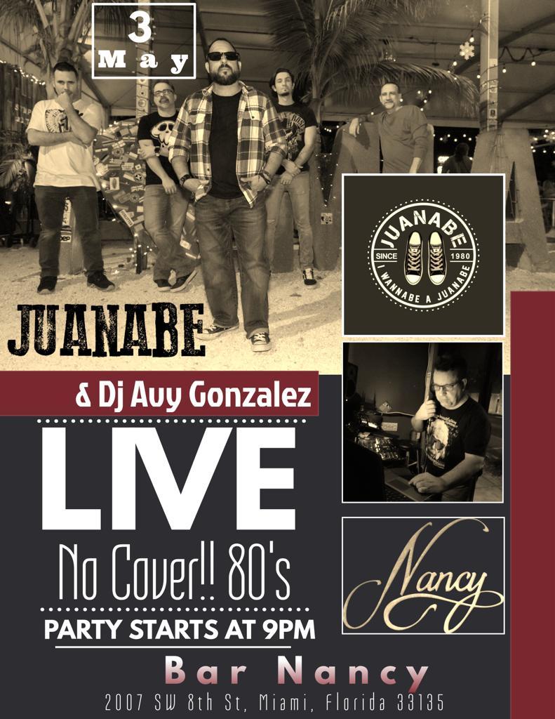 Juanabe with DJ Avy @ Bar Nancy - Friday, May 3 at 9 PM