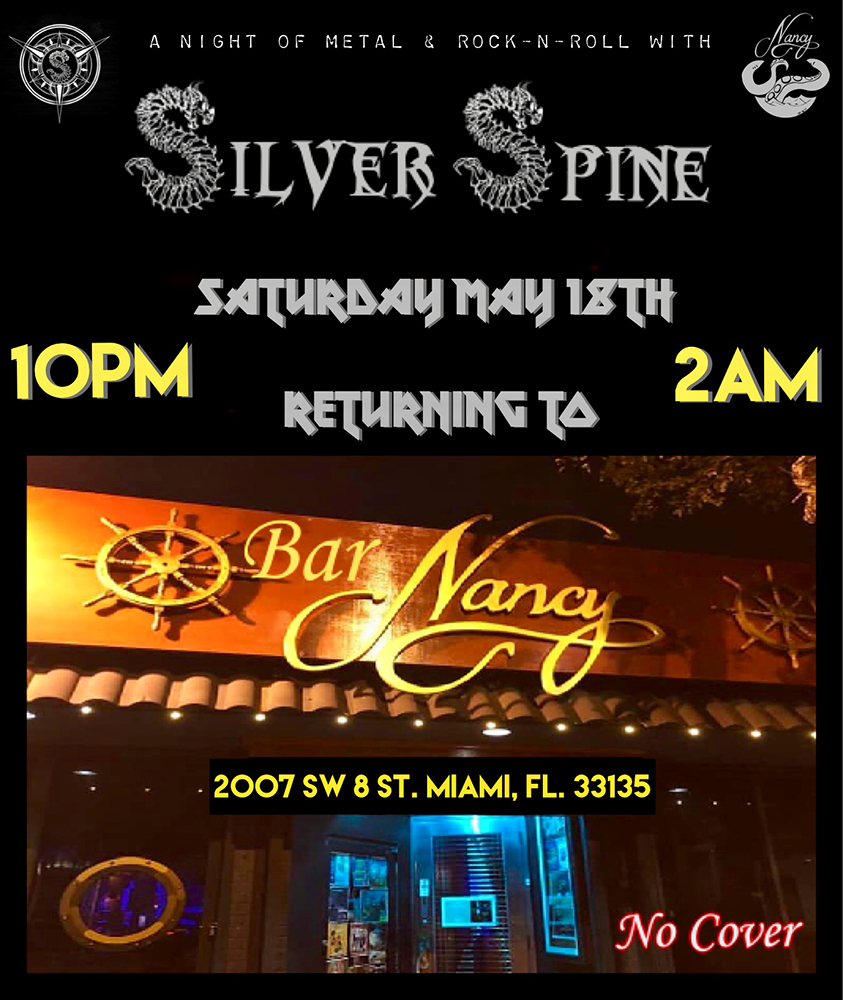 Silver Spine! Full Moon Party! @ Bar Nancy - Saturday, May 18, at 10 PM - NO COVER