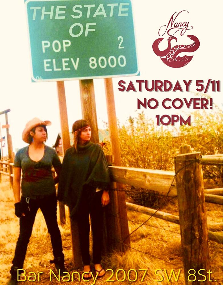The State Of! Live at Nancy! @ Bar Nancy Saturday, May 11, at 10 PM
