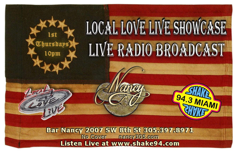 Local Love Live Showcase & Live Radio Broadcast! @ Bar Nancy - Thursday, May 2, at 10 PMLocal Love Live Showcase & Live Radio Broadcast! @ Bar Nancy - Thursday, May 2, at 10 PM