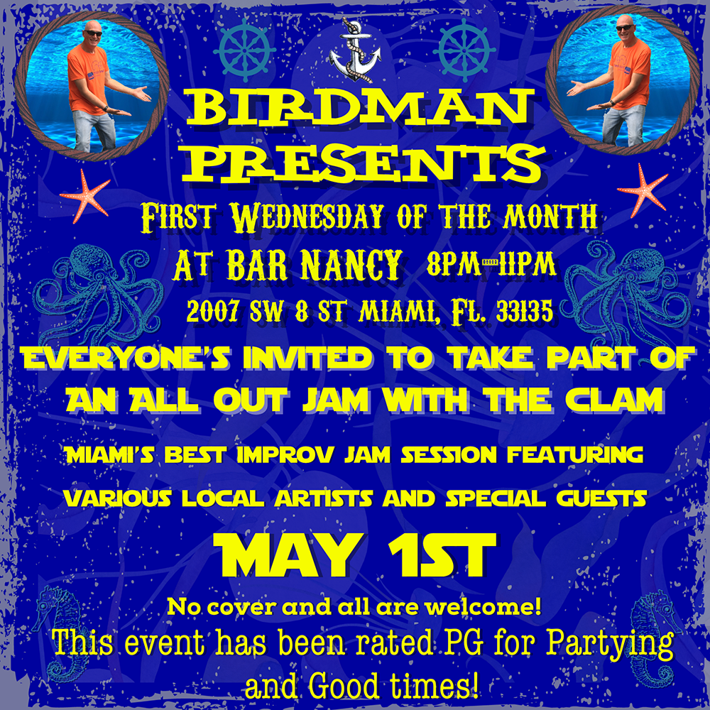 Birdman Presents 1st Wednesdays! A Very Unique Jam Session! @ Bar Nancy - Wednesday, May 1, at 8 PM
