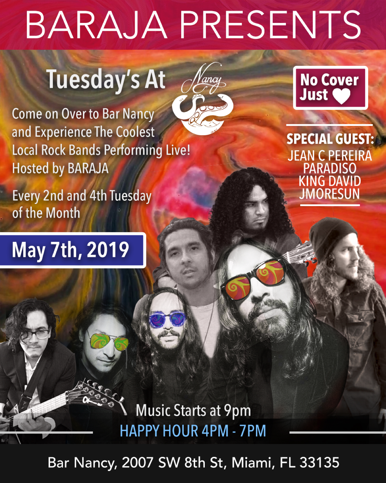 Baraja Presents Tuesday's at Bar Nancy!
