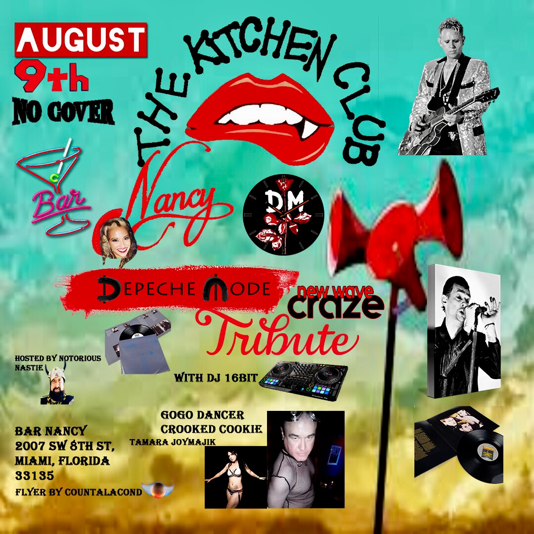The Kitchen Club! 80's New Wave Edition! Depeche Mode Tribute!