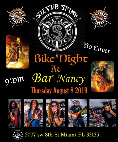 Heavy Metal Bike Night! Featuring Silver Spine! At Bar Nancy
