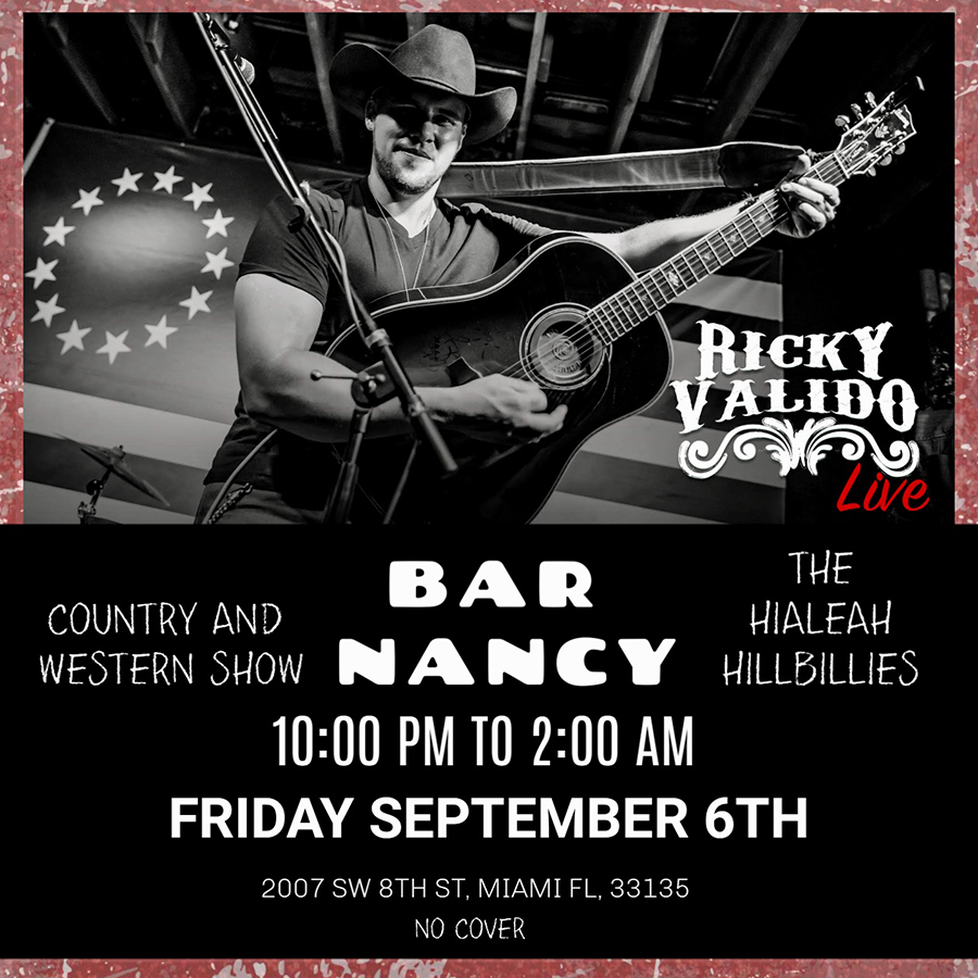 Ricky Valido & The Hialeah Hillbillies! Country & Western Show!