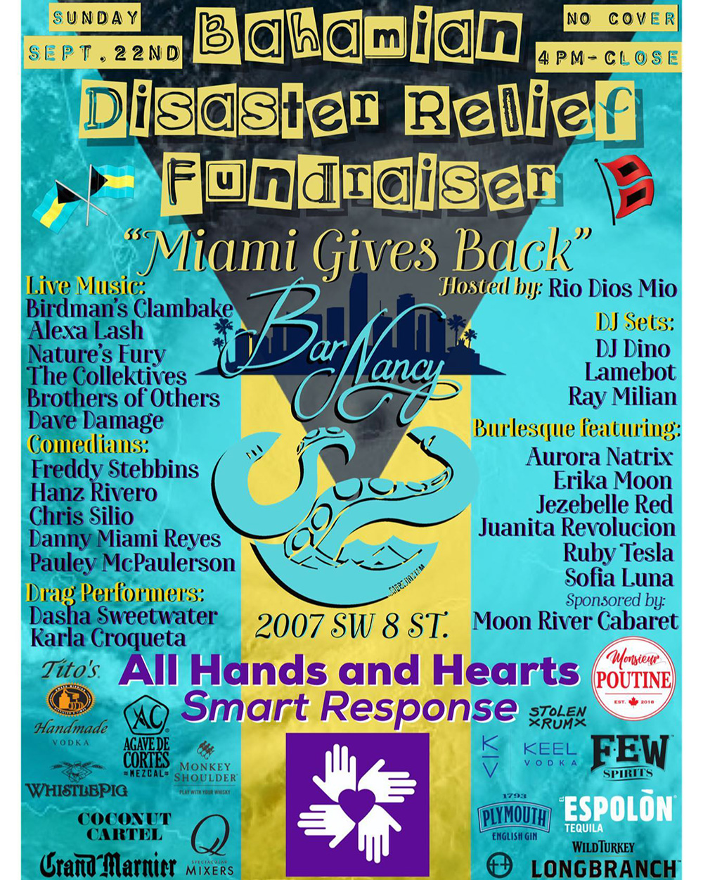 Miami Gives Back! Bahamian Disaster Relief Fundraiser at Bar Nancy