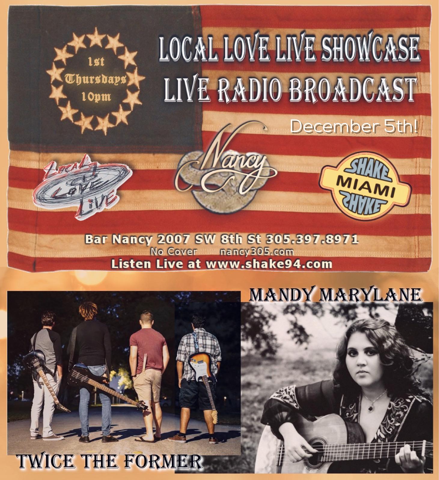 Local Love Live Showcase & Live Radio Broadcast! @ Bar Nancy