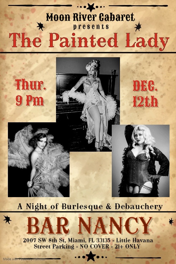 The Painted Lady! A Night of Burlesque & Debauchery. @ Bar Nancy