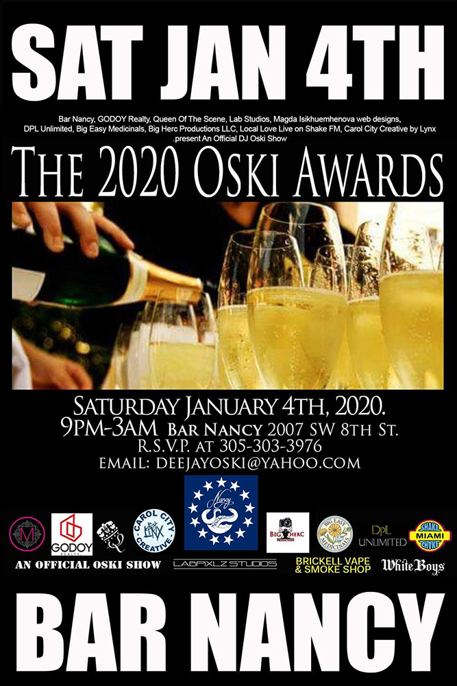 The 2020 Oski Awards! @ Bar Nancy