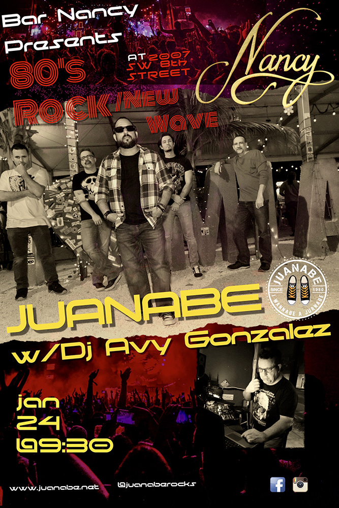 24 Juanabe and DJ Avy at Bar Nancy!
