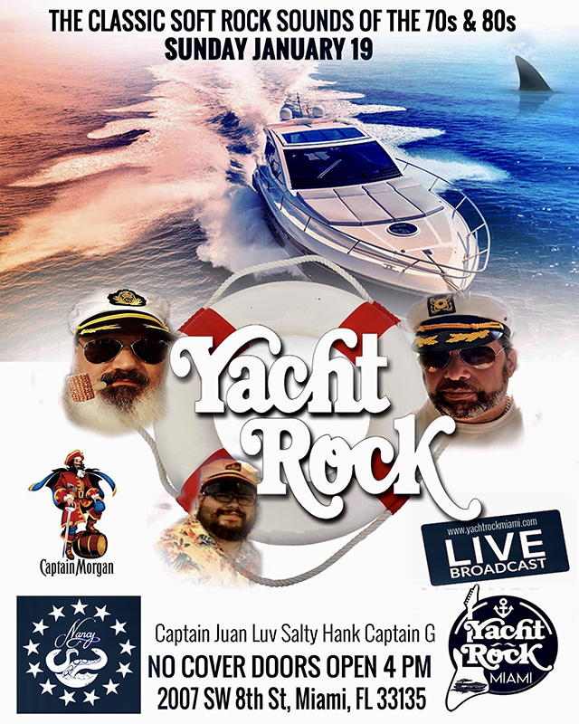 Captain Morgan's Presents Yacht Rock Sunday's at Bar Nancy!