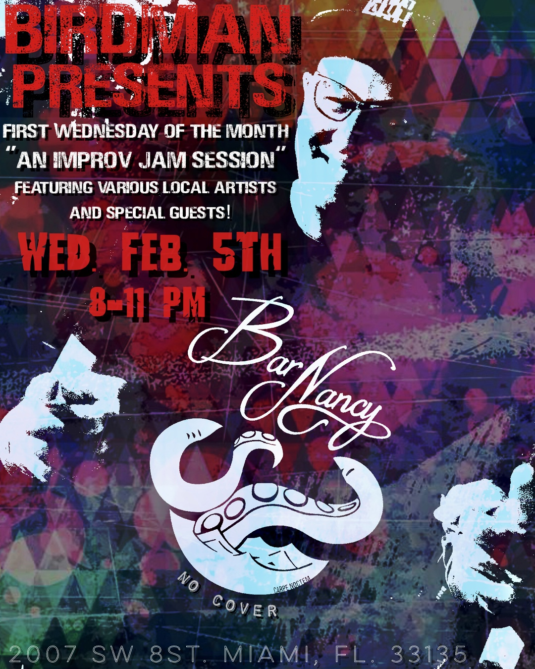 Birdman Presents! Jam with the Clam! 1st Wednesday's! @ Bar Nancy