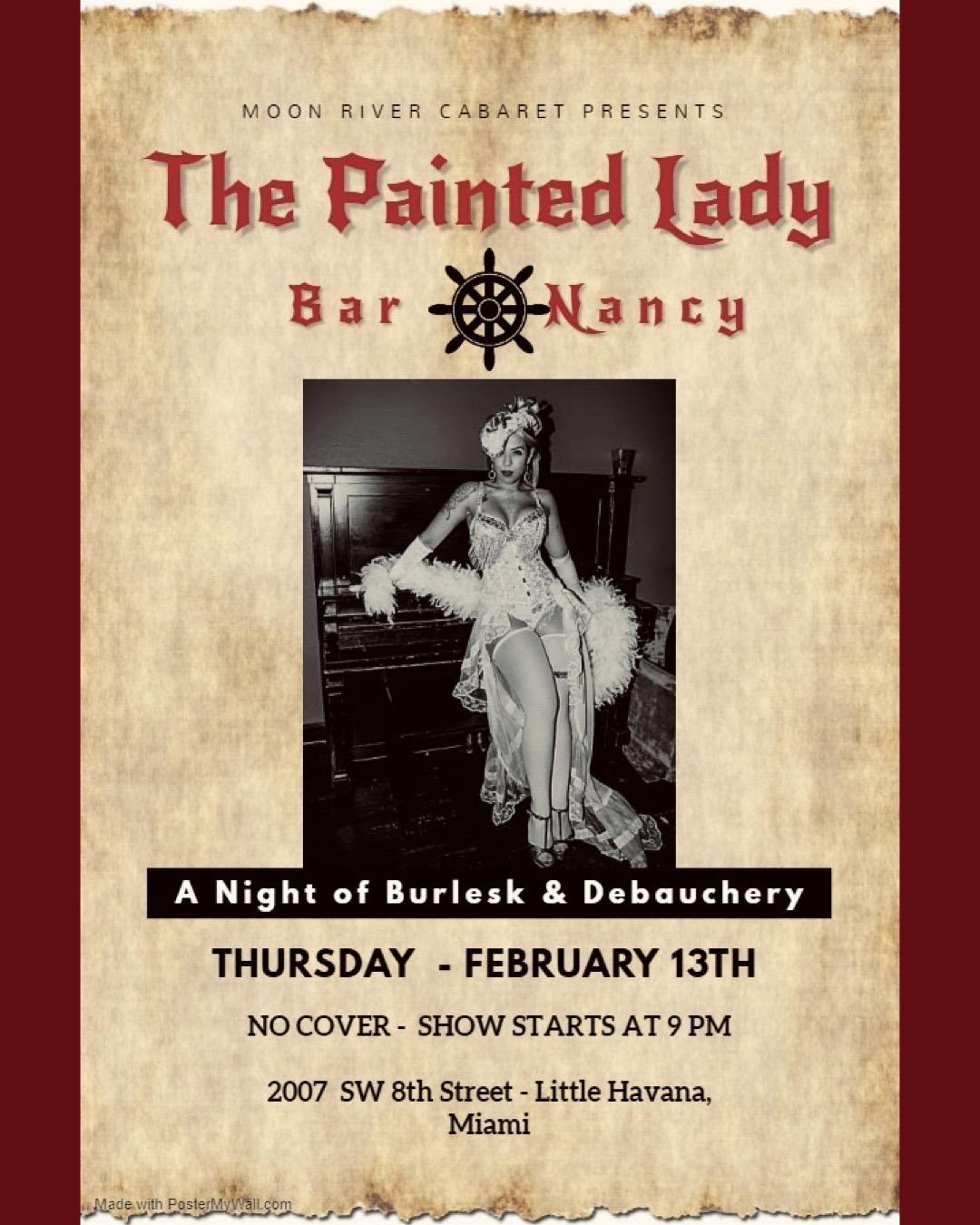 The Painted Lady - A Night of Burlesk & Debauchery! @ Bar Nancy
